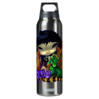 Two Cute Dragonlings Dragon Fairy Art 16 Oz Insulated SIGG Thermos Water Bottle