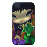 """""""Two Cute Dragonlings"""" iPhone 4 Case"""