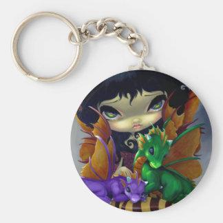 """Two Cute Dragonlings"" Keychain"