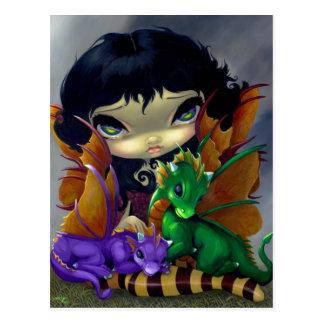 """Two Cute Dragonlings"" Postcard"