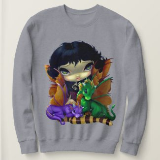 Image of Cute Fairy with Dragonlings Sweatshirt for Women
