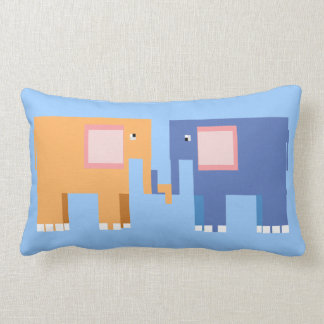 Two cute elephants throw pillow