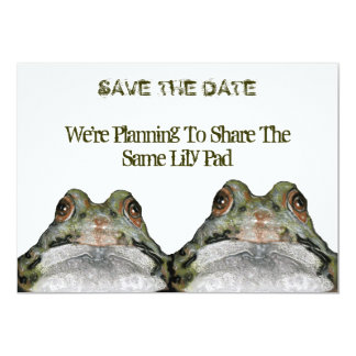 Two Cute Frogs: Save The Date: Wedding: Art Card
