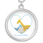 Two cute giraffes Mother baby boy Mother's Gift Jewelry