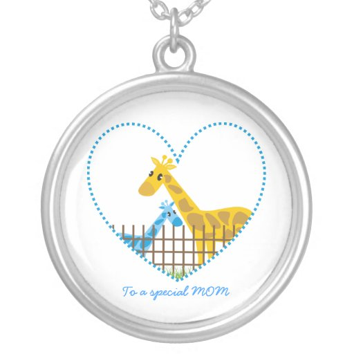 Baby Boy Gifts Jewelry : Two cute giraffes mother baby boy s gift jewelry