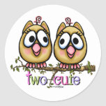 Two Cute Girl Twins stickers