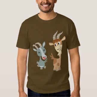 Two Cute Happy Cartoon Goats T-Shirt