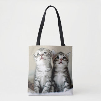 Two Cute Kittens On Bed Tote Bag