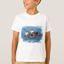 two cute little ducklings in water T-Shirt