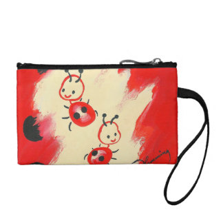 Two Cute Little Ladybugs Coin Purses