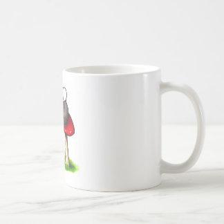 Two Cute Little Mice and a Toadstool: Artwork Classic White Coffee Mug