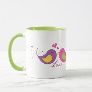 Two Cute Lovebirds Mug