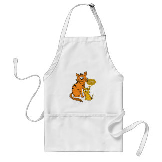 two cute, loving tigers  I always love you Adult Apron