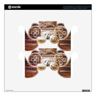 Two cute Maltese puppies sitting in a basket PS3 Controller Skin