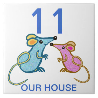 two cute mice house humber large square tile