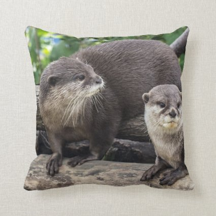 Two Cute Otters | Otter Pillow