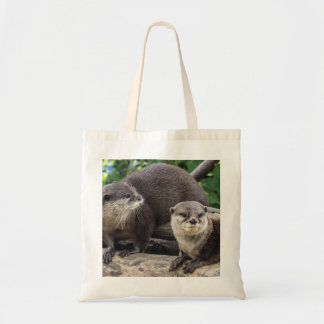 Two Cute Otters   Otter Tote Bag