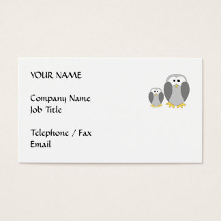 Two Cute Penguins. Cartoon. Business Card