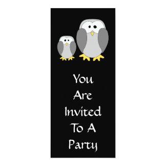 Two Cute Penguins. Cartoon. Card