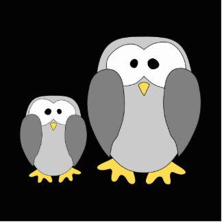 Two Cute Penguins. Cartoon. Cutout
