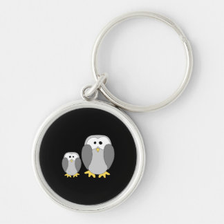 Two Cute Penguins. Cartoon. Keychain