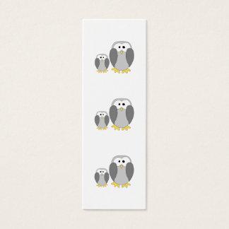 Two Cute Penguins. Cartoon. Mini Business Card