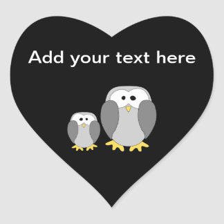 Two Cute Penguins Cartoon Sticker