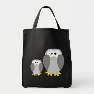 Two Cute Penguins. Cartoon. Tote Bag