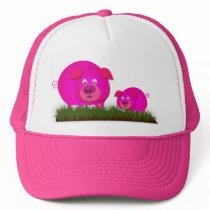 Two cute piglets trucker hat