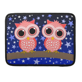 two cute pink owls sleeve for MacBook pro