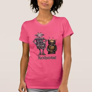 Two Cute Robots Funny T-Shirt