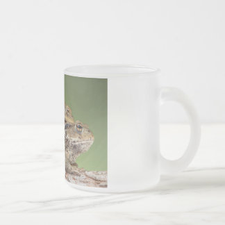 Two Cute Toads Frosted Glass Coffee Mug