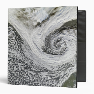 Two cyclones formed in tandem south of Iceland 3 Ring Binders