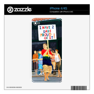 Two dads decals for the iPhone 4S