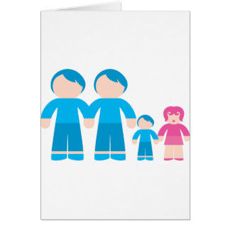 Two dads male Gay couple Family Greeting Cards