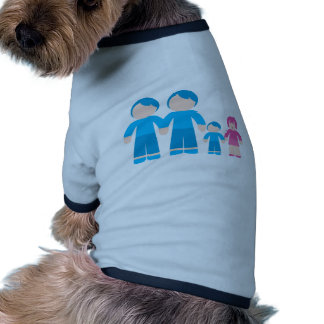 Two dads male Gay couple Family Doggie T-shirt
