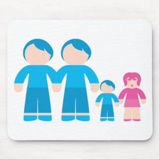 Two dads male Gay couple Family Mouse Pad