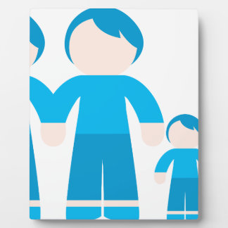 Two dads male Gay couple Family Plaque