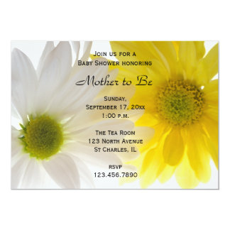 Two Daisies Baby Shower Invitation