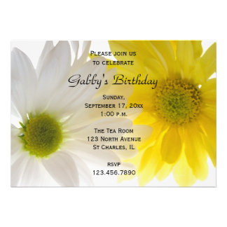 Two Daisies Birthday Party Invitation