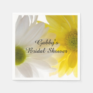 Two Daisies Bridal Shower Paper Napkin