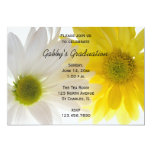 "Two Daisies Graduation Party Invitation 5"" X 7"" Invitation Card"