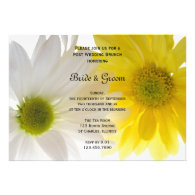 Two Daisies Post Wedding Brunch Invitation