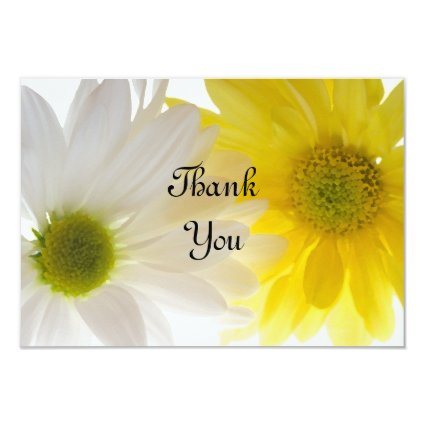 Two Daisies Thank You Notes - Flat 3.5x5 Paper Invitation Card