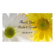 Two Daisies Wedding Favor Tags Business Card