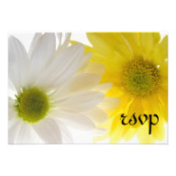 Two Daisies Wedding RSVP Response Card Custom Invitations