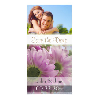 """Two Daisy /photo  """"Save the Date"""" Photo Card"""
