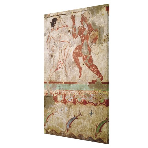 Two Dancers and Dolphins Gallery Wrap Canvas