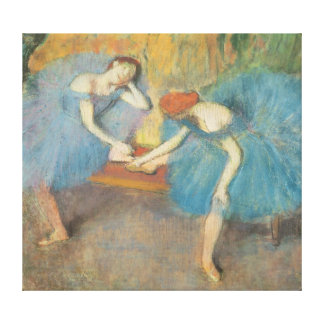 Two Dancers at Rest or, Dancers in Blue, c.1898 Canvas Print