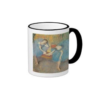Two Dancers at Rest or, Dancers in Blue, c.1898 Ringer Coffee Mug